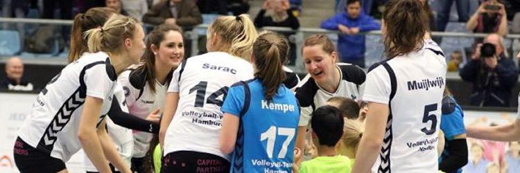 Unterstützung für die Volleyballerinnen des VT Hamburg