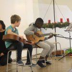 Zwei Musiker am Johannisland