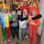 Foto Clowns in Reihe